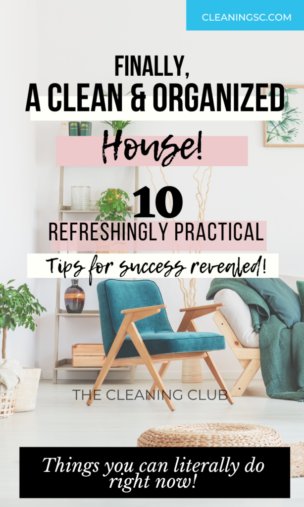 a clean and organized home in 10 steps