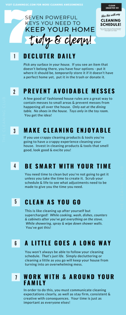 key to have a clean home for busy moms