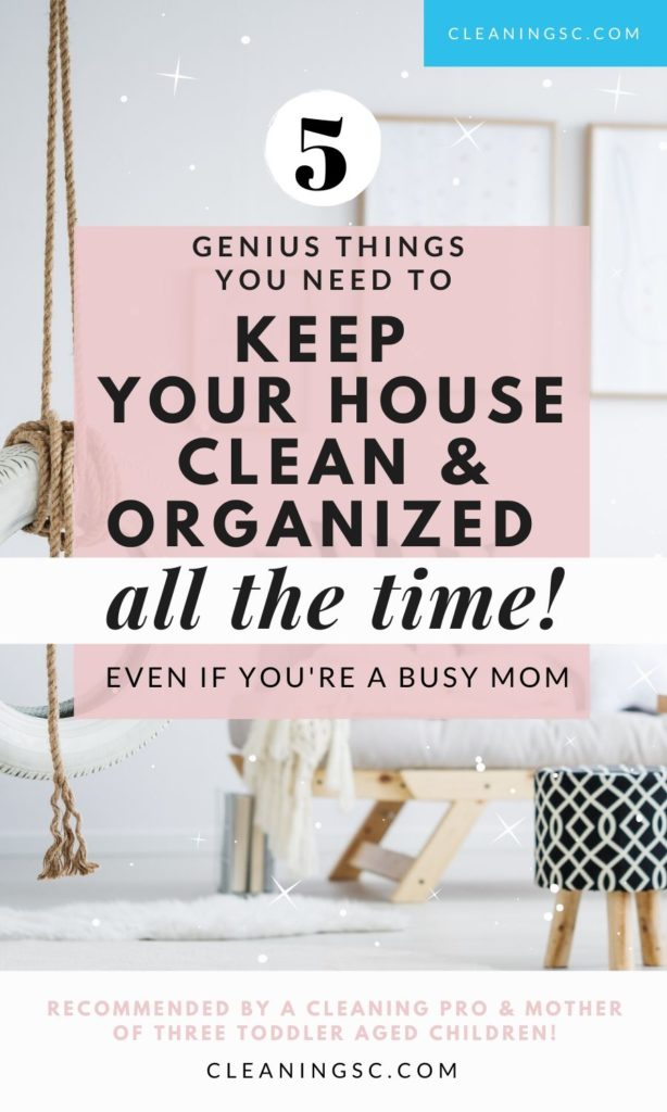 clean and organized home life hacks