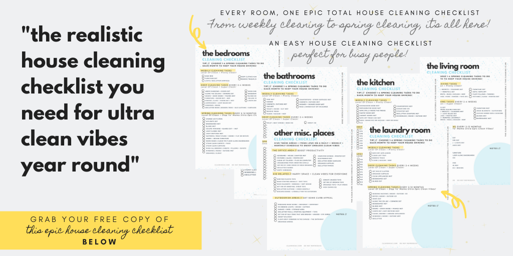 total house cleaning checklist