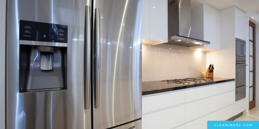 make your stainless steel fridge shine