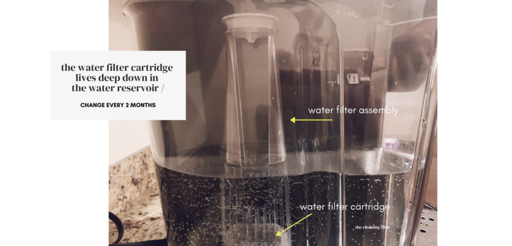 how to change the keurig water filter cartridge